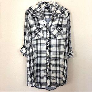 5fe7d5f6d71 Tolani Tops | Tina Plaid Mixed Print Tunic Shirt Dress | Poshmark
